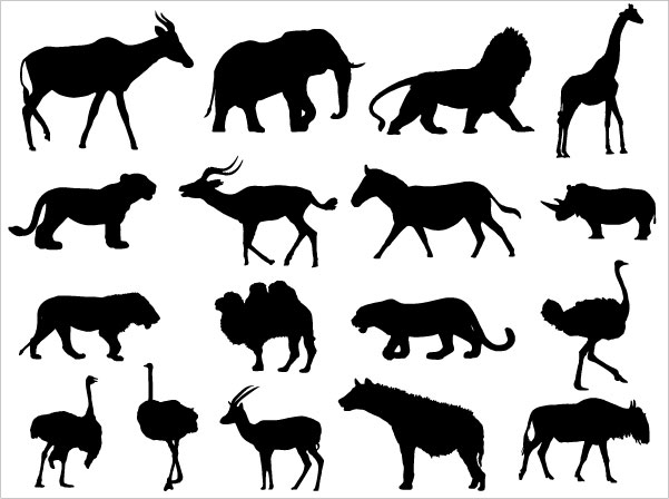 free silhouettes of animals