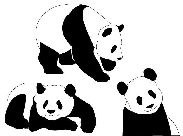 Free printable christmas ornaments coloring page - Panda Bears Vector Download Free Vector Art Free Vectors