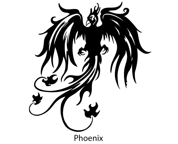 Phoenix Bird Free Vector Silhouette