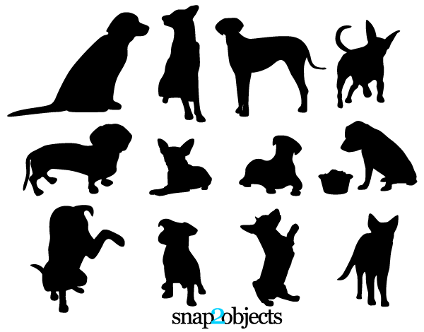 Dog Silhouette Vector Free Download Dog Silhouettes Free Vector