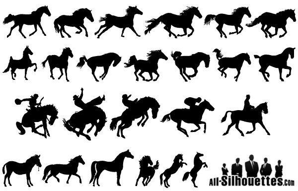 horse silhouettes free vector - photo #5