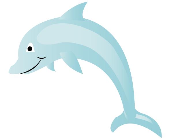Vector Dolphin Cartoon