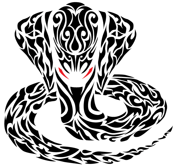 Vector Tribal Cobra Snake Tattoo