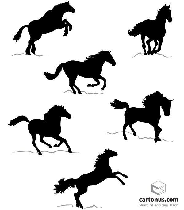 horse silhouettes free vector - photo #12