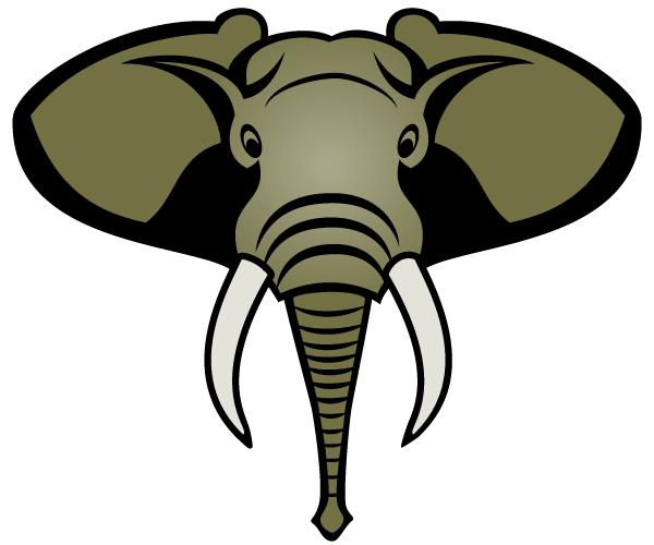 clipart elephant face - photo #36