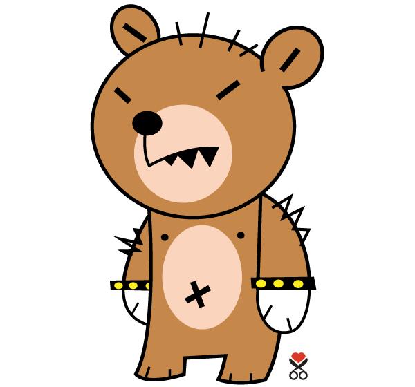 Cute Cartoon Character Design : Cute bear cartoon character download free vector art