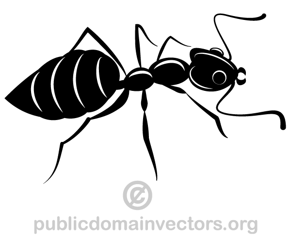 Ants Silhouette Vector Image Download Free Vector Art