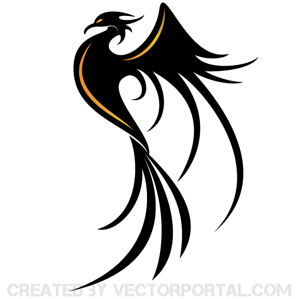 Phoenix Bird Vector Image Download Free Vector Art