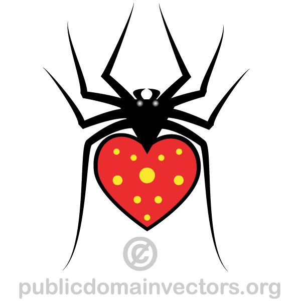 Heart Spider Vector Image | Download Free Vector Art ...