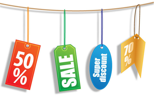 Vector Discount Tags