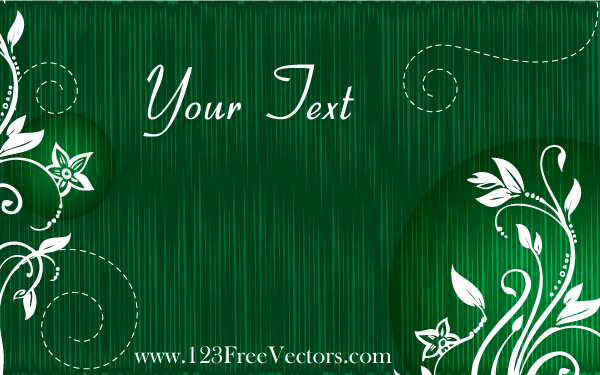 Vector Green Floral Text Banner