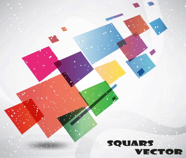 Abstract Squares Background Vector Graphics Free