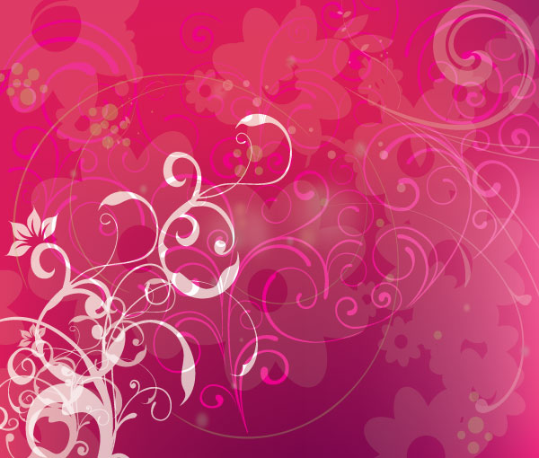 Pink Background with Swirls Vector Design | Download Free ...