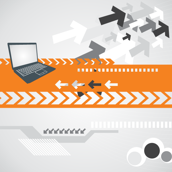 Computer Technology Background Vector Design