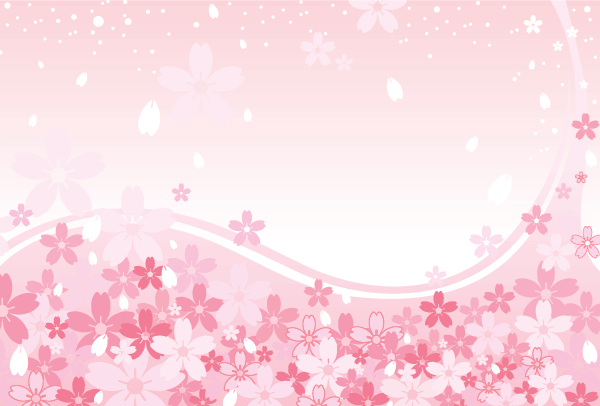 Pink Cherry Blossoms Background Design