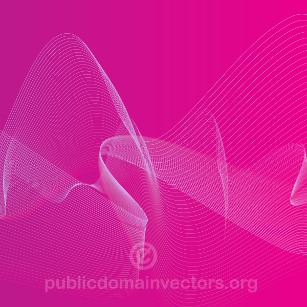 Pink Background Design with Flowing Lines Vector Graphics
