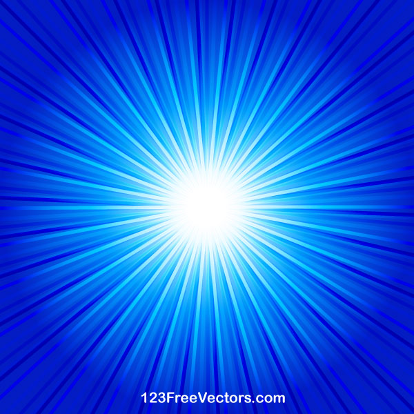 Abstract Blue Starburst Background Vector