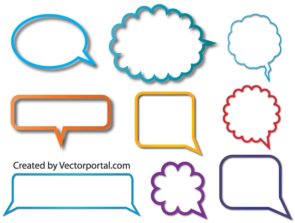 Vector Speech Bubble Free