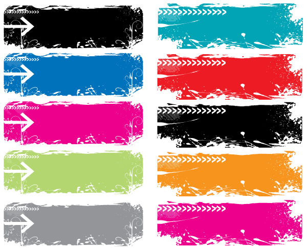 Colorful Grunge Vector Banners Download Free Vector Art