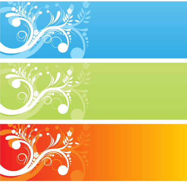 Сolor Flower Free Vector Banners