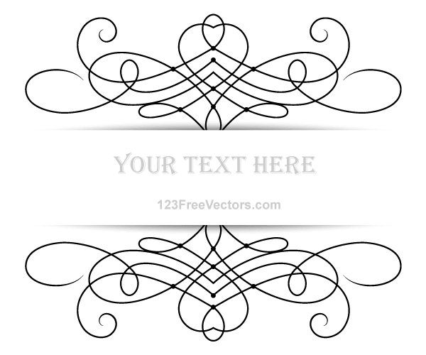 Vector Floral Ornament Banner with Place for Your Text ...