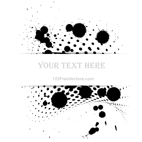 Paint Splash Halftone Vector Banner