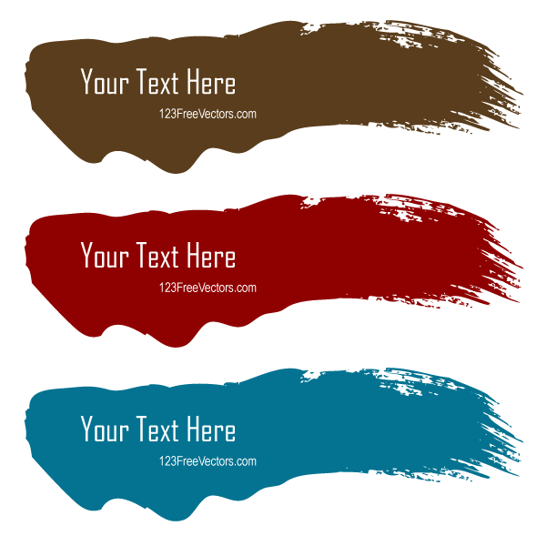 Color Brush Stroke Banners Illustrator