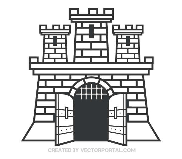 castle clip art image download free vector art free