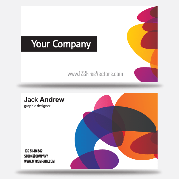 Free colorful business card templates download free for Business card template free download