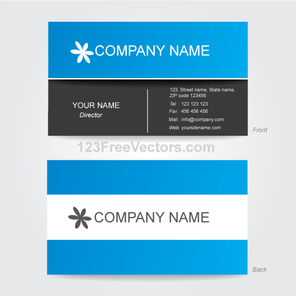 Corporate business card template illustrator download for Illustrator business card template