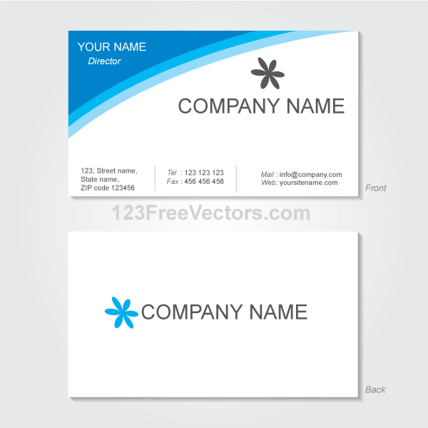 Sample for visiting card zrom accmission Choice Image