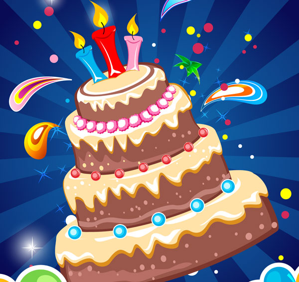 050-Birthday Card Background Free Vector