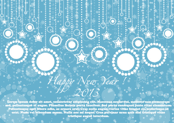 Happy New Year 2013 Blue Card Vector Illustration | Download Free ...