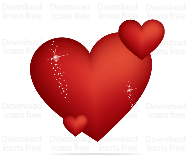 Free Red Valentines Heart Vector Graphics | Download Free Vector ...