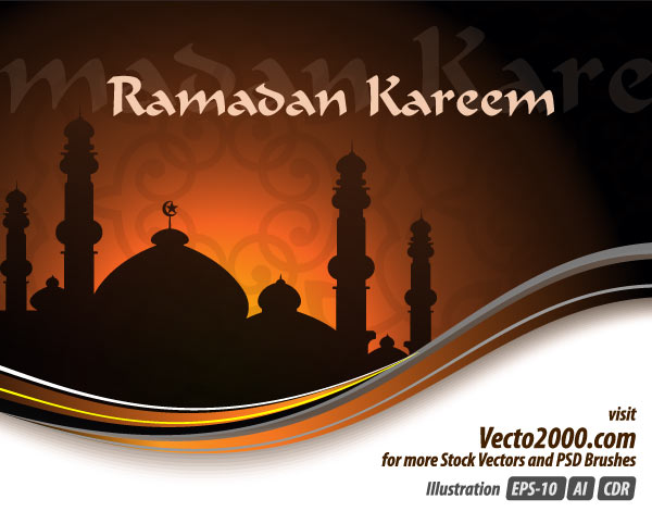 Ramadan Kareem Vector Greeting Card Design | Download Free Vector Art ...