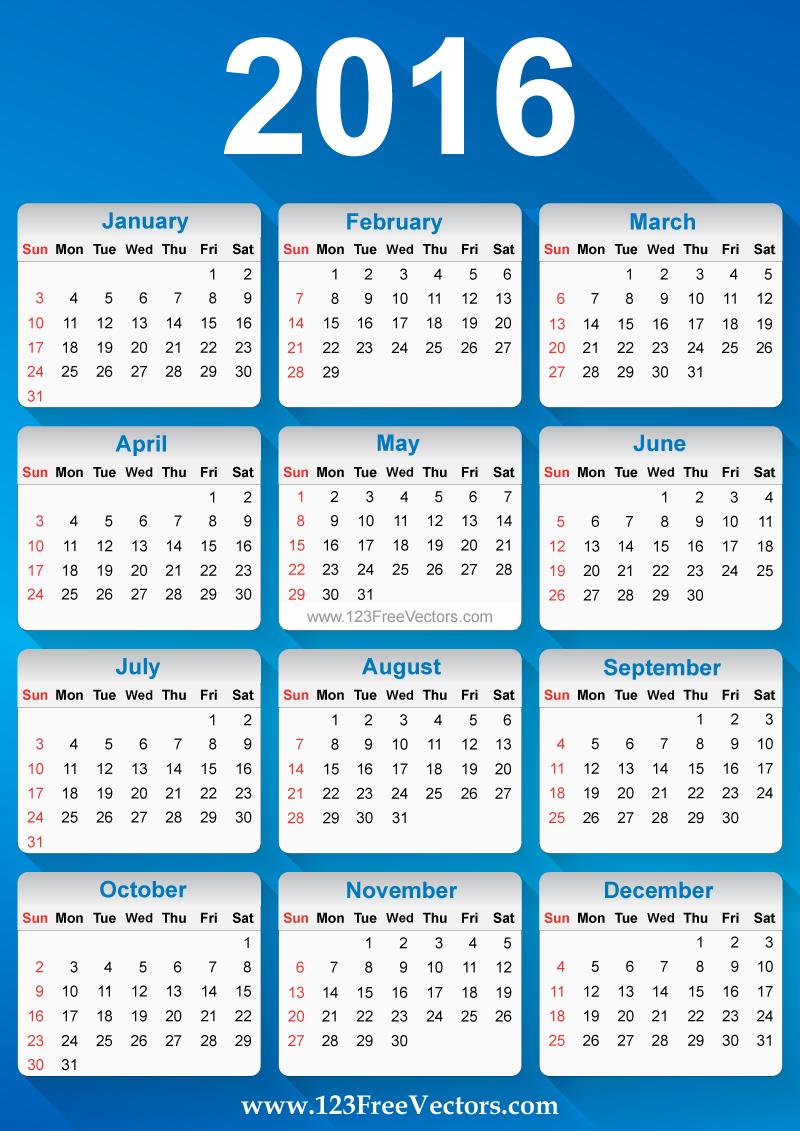 Calendar Free Image : Free vector calendar download art