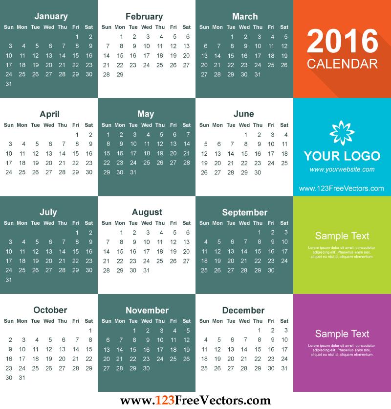 Calendar Design Template Free Download : Calendar template free download