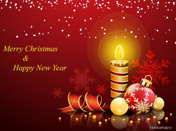 vector christmas and new year greeting card  download free vector, Greeting card