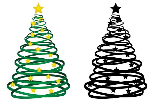 Christmas Tree Decorations Vector Free : Ribbon christmas tree vector download free art