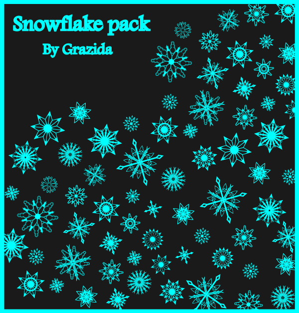Vector Christmas Snowflakes Graphics