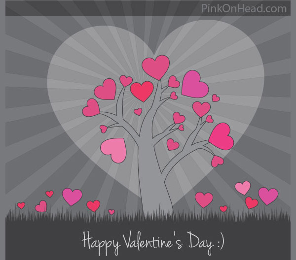 Download Happy Valentine's Day Vector Card Design