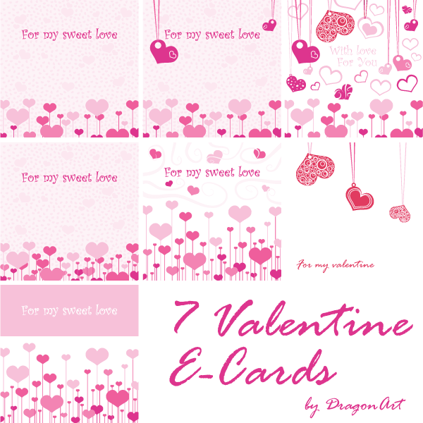 valentine's day greeting cards vector set  download free vector, Greeting card