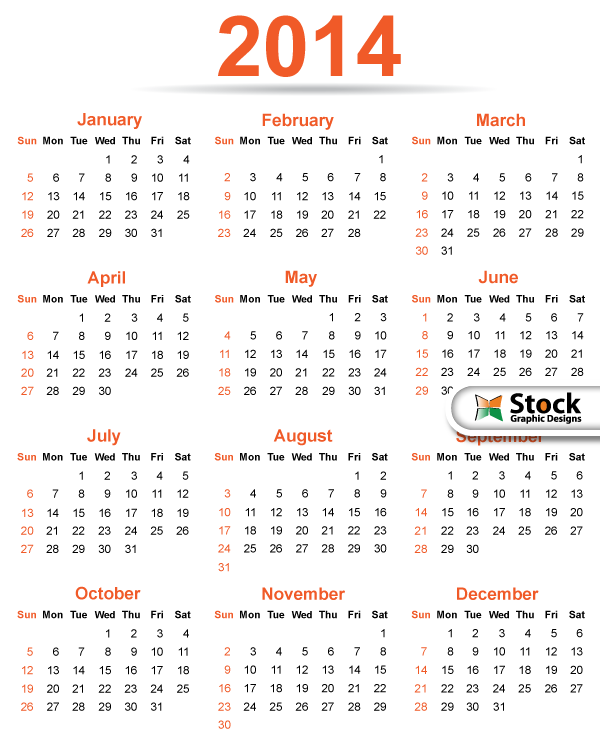 Calendar Template Vector : Calendar template vector free download
