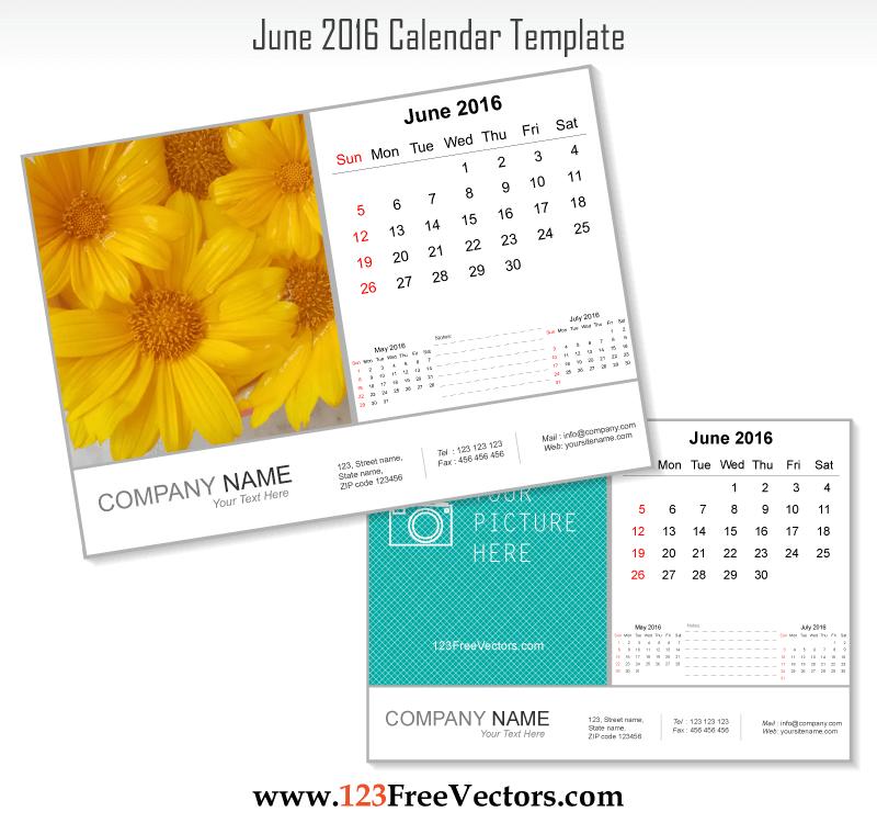 June Calendar Vector : June calendar template download free vector art