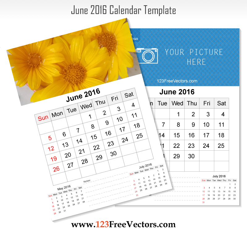 June Calendar Vector : Wall calendar june download free vector art