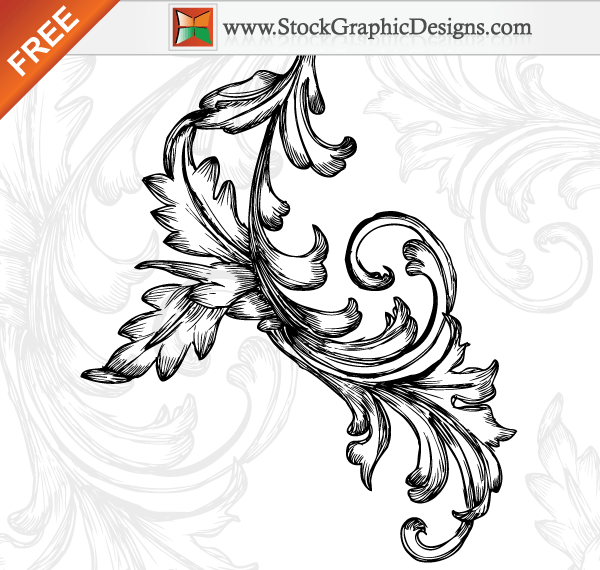 Art Design On Line : Hand drawn floral free vector art designs download
