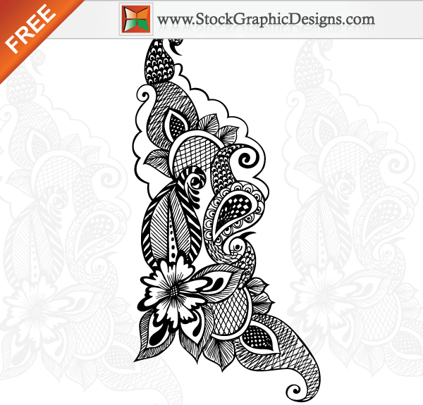 Free Vector Ornamental Floral Design