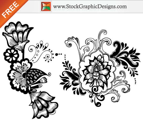Art Design On Line : Beautiful floral free vector art designs download