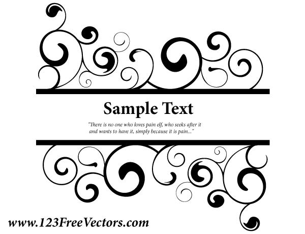 Banner Wedding Vector Vector Ornate Swirl Banner