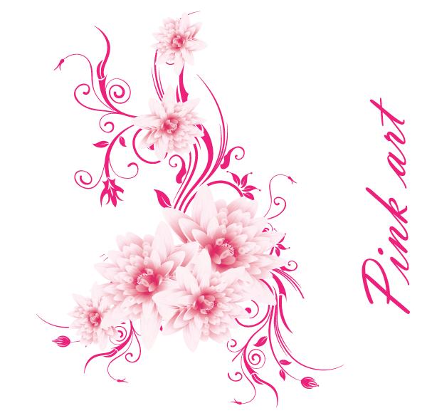 Pink Flower Vector on Flower Vector Graphics